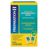 Preparation H Medicated Hemorrhoidal Wipes With Witch Hazel 2 Pack