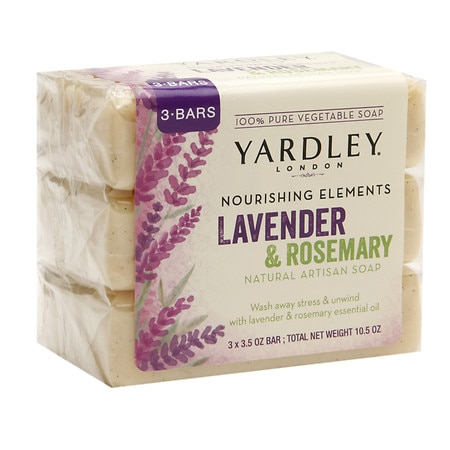 Nourishing Elements Natural Artisan Bar Soap Lavender Rosemary by Yardley of London
