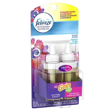 Febreze NOTICEables Single Oil Refill Air Freshener Gain ...
