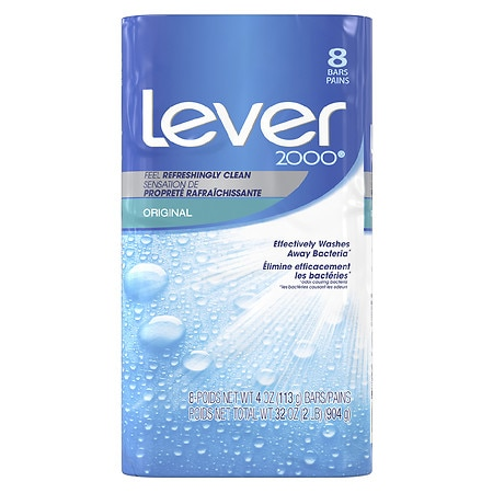 Lever 2000 Perfectly Fresh Refreshing Bar Soap 8 Pack Original,4 oz