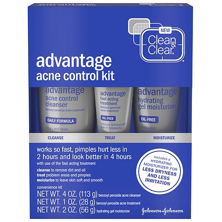clean and clear advantage acne control kit how to use