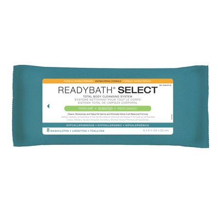 ReadyBath Select Antibacterial Cleansing Washcloths Scented,30 Pks by Medline