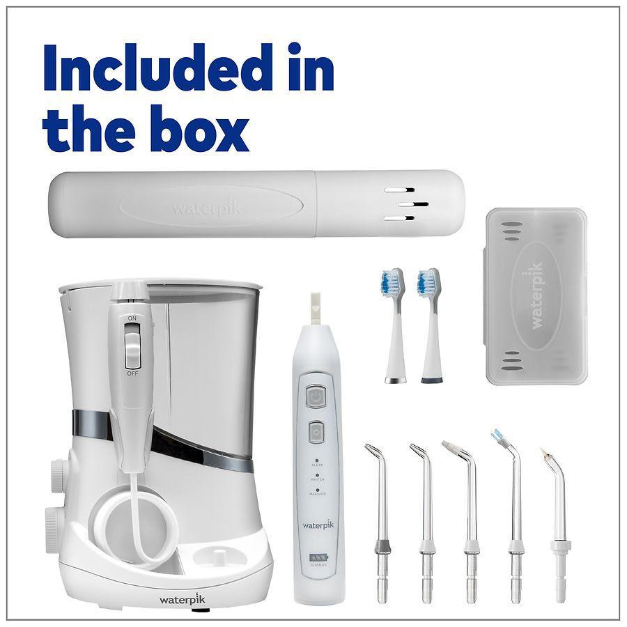 waterpik water flosser sonic toothbrush complete care 5 0 wp 861 white walgreens. Black Bedroom Furniture Sets. Home Design Ideas