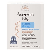 Aveeno Baby Baby Soothing Bath Treatment 5 Pack Single Use Packets