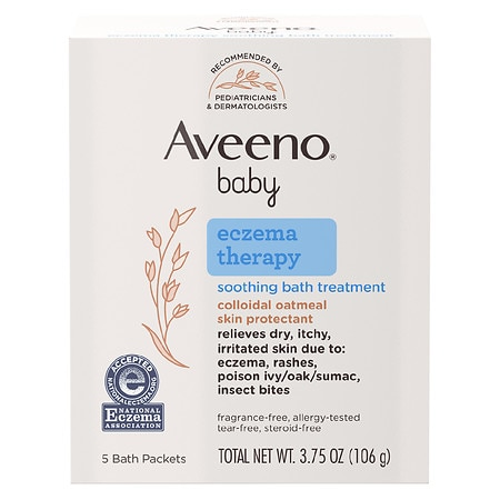Aveeno Baby Eczema Therapy Soothing Bath Treatment Single Use Packets