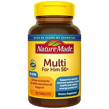 Nature Made Multi 50+ Dietary Supplement Tablets