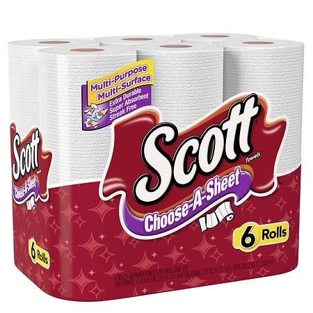 scott paper towels regular white