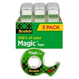 Magic Tape 3 Pack3/4 in x 300 in
