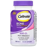 Caltrate 600+D Plus Minerals Calcium Supplement Tablets