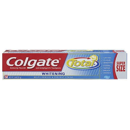 Colgate Total Whitening Anticavity Fluoride and Antigingivitis Toothpaste Gel