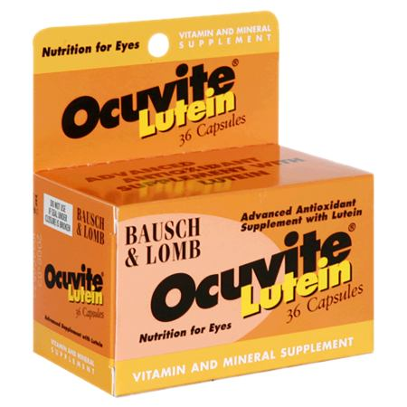 Ocuvite Lutein Eye Vitamin & Mineral Supplement Capsules