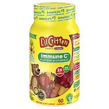 L'il Critters Immune C plus Zinc & Echinacea Dietary Supplement Gummy Bears Assorted Flavors