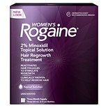 Women's Rogaine Hair Regrowth Treatment Topical Solution 3 Pack Unscented