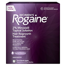 Women's Rogaine Hair Regrowth Treatment Topical Solution 3 Pack