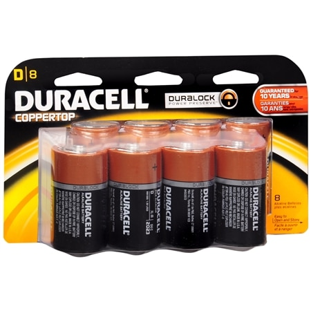 Duracell Coppertop Alkaline Batteries D