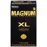 Magnum XL Lubricated Premium Latex Condoms