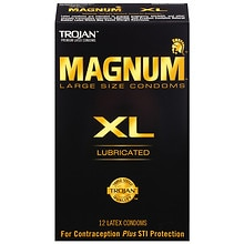 Trojan Magnum XL Lubricated Premium Latex Condoms