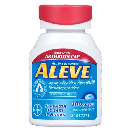 Aleve Pain Reliever Fever Reducer Easy Open Cap, Caplets