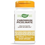 Nature's Way Chromium Picolinate 200 mcg Metabolic Function Dietary Supplement Capsules