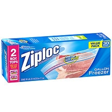 Ziploc Freezer Bags Value Pack Gallon Size