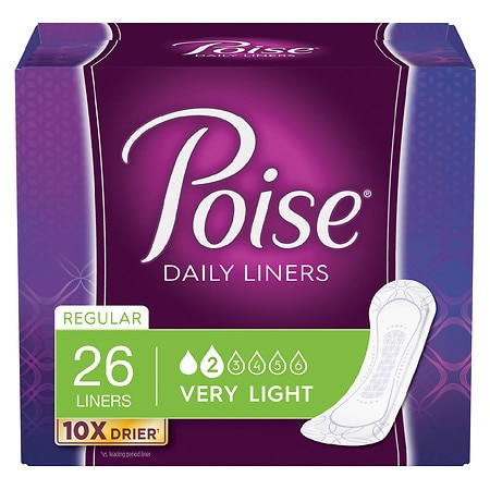 Poise Liners, Very Light Absorbency Regular Length