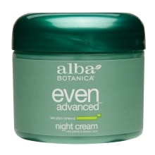 Alba Botanica Even Advanced Night Cream with DMAE & Thioctic Acid Sea Plus Renewal