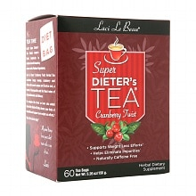 Laci Le Beau Super Dieter's Tea Dietary Supplement Tea Bags Cranberry Twist