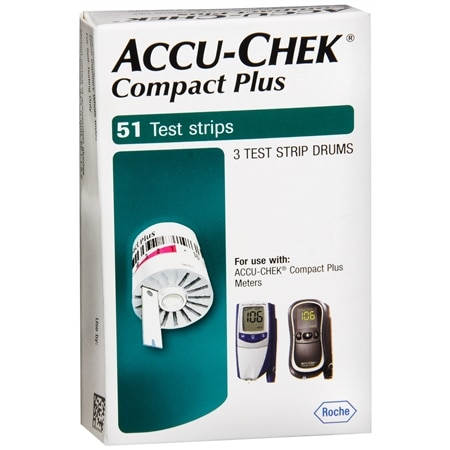 Accu-Chek Compact Test Strips, 51 Tests