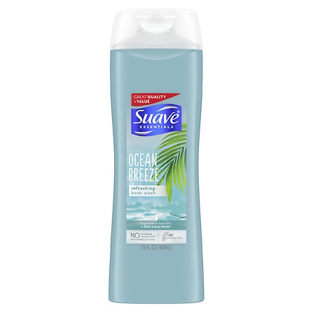 Suave Naturals Essentials Body Wash Ocean Breeze