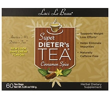 Laci Le Beau Super Dieter's Tea Dietary Supplement Tea Bags Cinnamon Spice