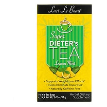 Laci Le Beau Super Dieter's Tea Dietary Supplement Tea Bags Lemon Mint Lemon Mint