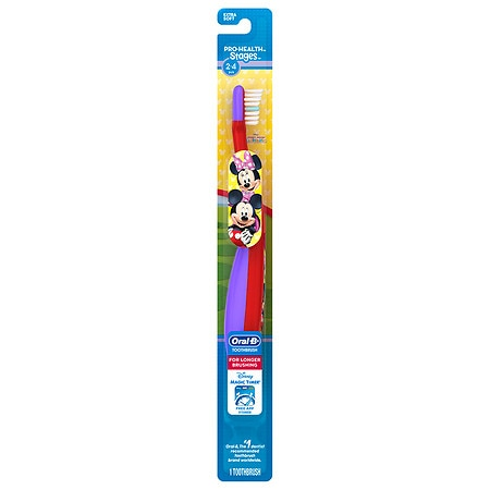 Oral-B Stages Pro-Health Disney's Minnie & Mickey Mouse Kid's Manual Toothbrush