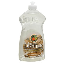 Earth Friendly Products Ultra Dishmate, Liquid Dishwashing Cleaner Natural Almond