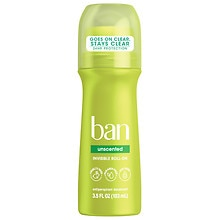 Ban Roll-On Antiperspirant & Deodorant Unscented
