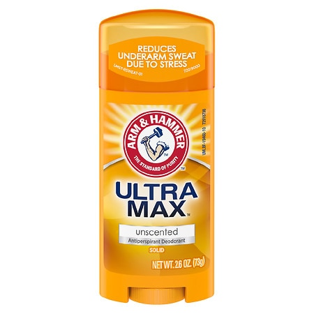 Arm & Hammer Ultramax UltraMax Antiperspirant Deodorant Invisible Solid Unscented