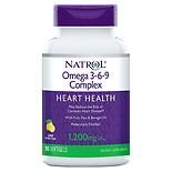 Natrol Omega 3-6-9 Complex Dietary Supplement Softgels Lemon Flavor