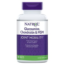 Natrol Glucosamine Chondroitin MSM Dietary Supplement Tablets