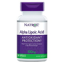 Alpha Lipoic Acid 300 mg Dietary Supplement Capsules