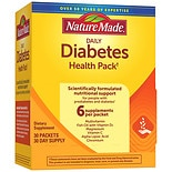 Nature Made Diabetes Health Pack Daily Supplement Packets