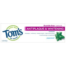 Tom's of Maine Antiplaque and Whitening Toothpaste Peppermint