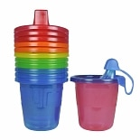 Take & Toss Recycle Spill-Proof Cups, 6 months+ (Colors May Vary)