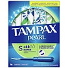 Tampax Pearl Tampons with Plastic Applicators Unscented, 18 ea Unscented,Super, 18 ea