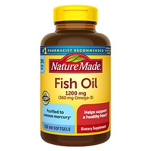 Fish Oil 1200 mg Dietary Supplement Liquid Softgels