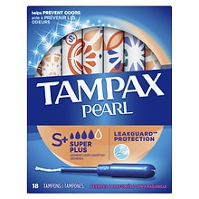 Tampax Pearl Tampons with Plastic Applicators Fresh Scent, 18 ea Fresh Scent