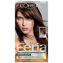 L'Oreal Paris Feria Multi-Faceted Shimmering Colour 3x Highlights, Permanent French Roast 45