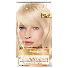 L'Oreal Paris Preference Les Blondissimes Permanent Hair Color Extra Light Ash Blonde LB01