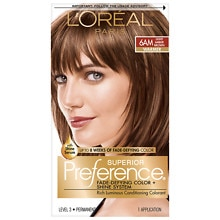 L'Oreal Paris Preference Permanent Hair Color Light Amber Brown 6AM