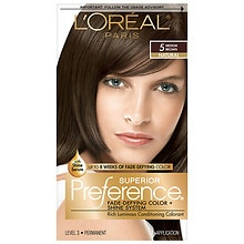 L'Oreal Paris Preference Permanent Hair Color Medium Brown 5