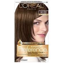 L39Oreal Paris Preference Permanent Hair Color Medium Golden Brown 5G