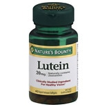 Nature's Bounty Lutein 20 mg Dietary Supplement Softgels